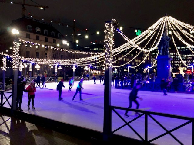 Backyard Ice Rink Lights the stockholm tourist: outdoor ice skating rink at kungsträdgården