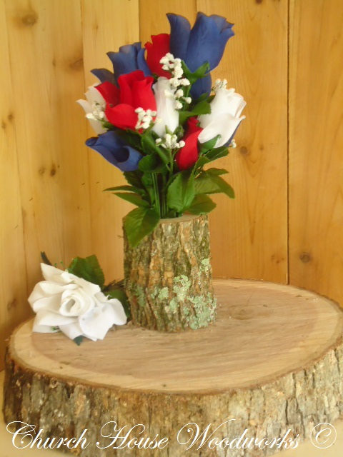 Rustic Wedding Centerpieces Tree Branch Flower Holders Wooden Vases