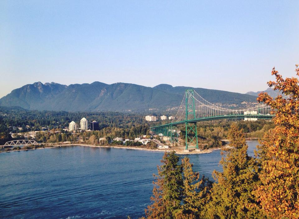 Lions Gate Bridge at Stanley Park
