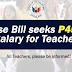 House Bill seeks P45,000 Salary for Teachers