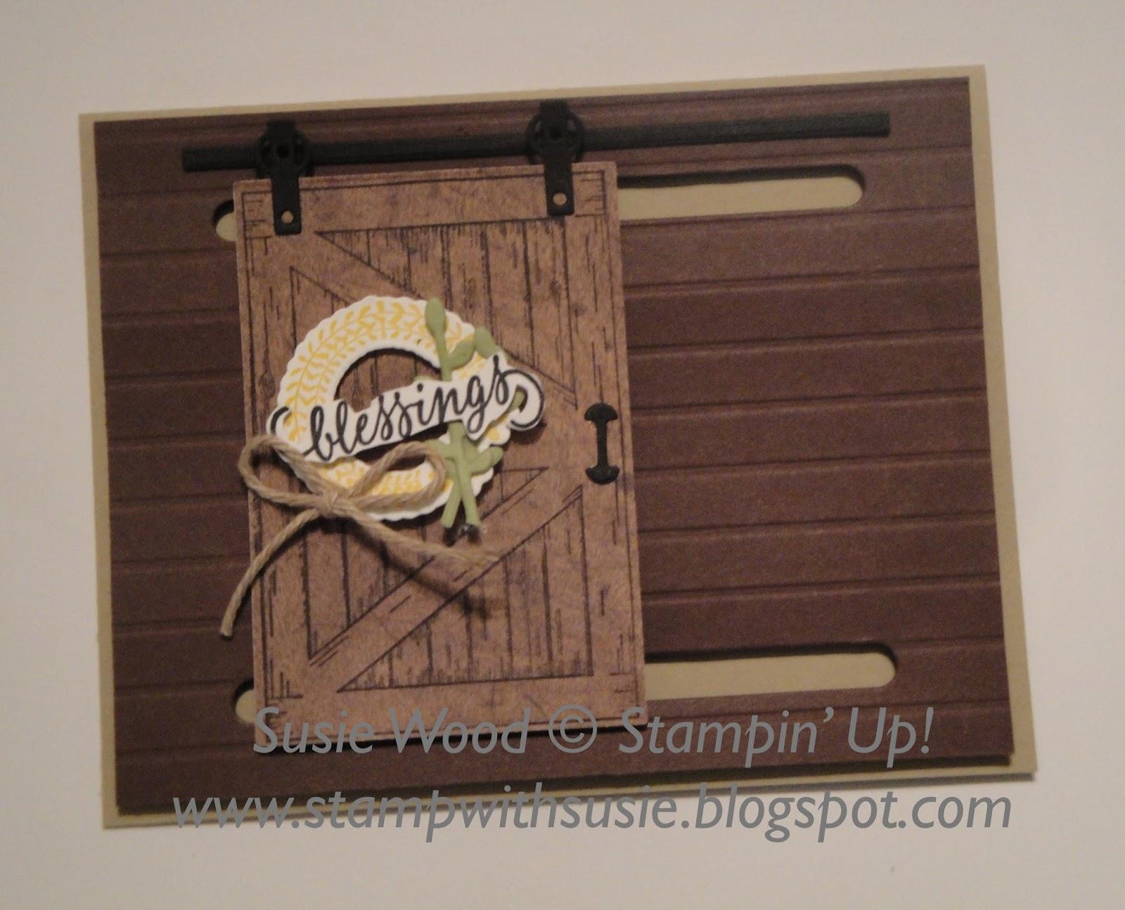 Stamp With Susie The Barn Door