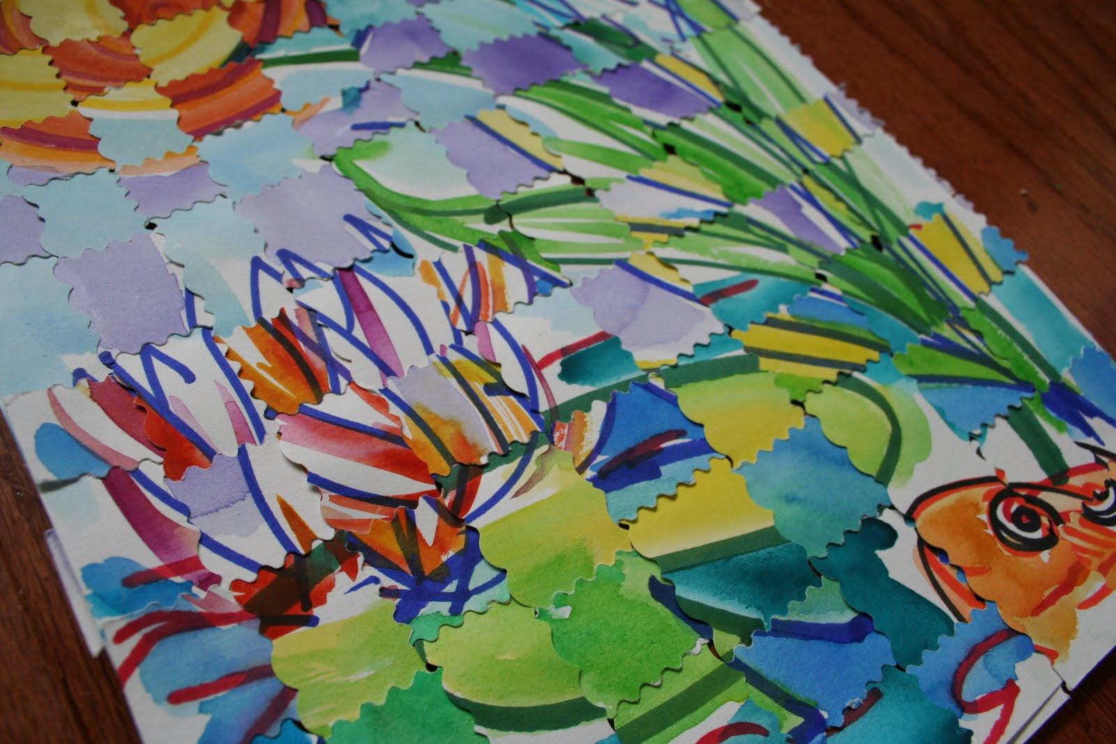 Painting with permanent markers and alcohol! Used: ceramic ...