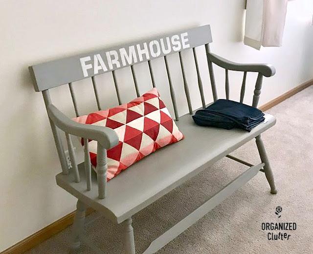 Garage Sale Makeovers #upcycle #stencil #vintage #repurpose #farmhouse