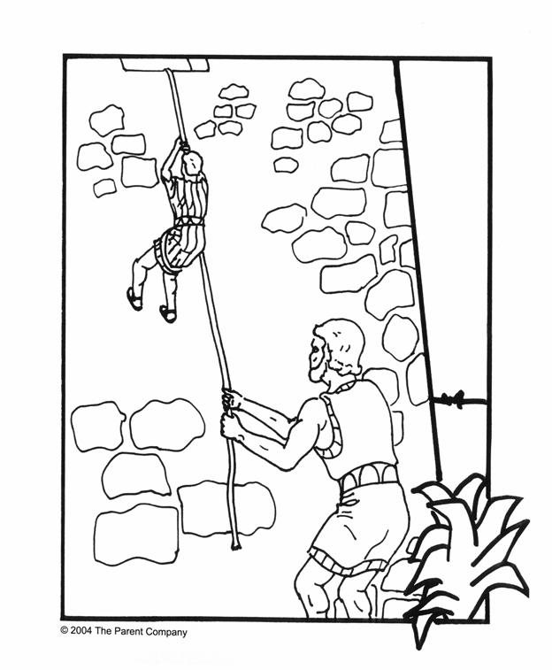 Rahab And The Spies Coloring Pages