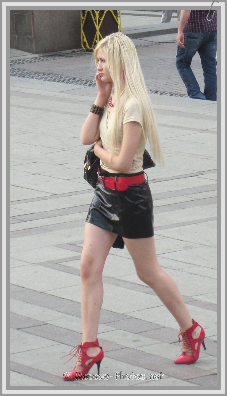 Russian Girls High Heels Street Fashion