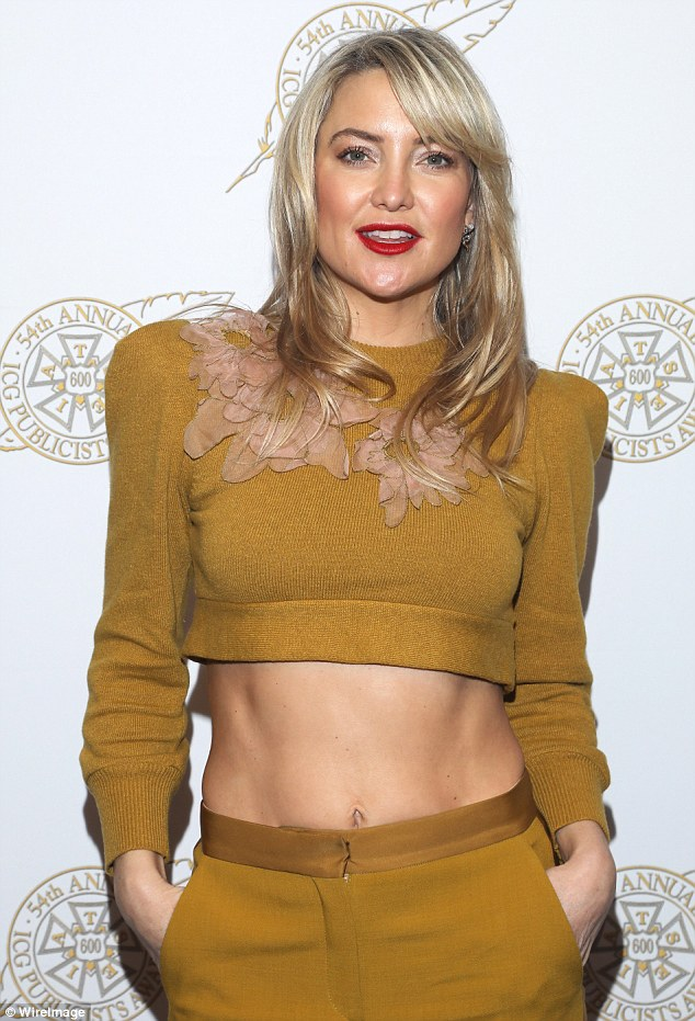 Kate Hudson flaunts toned abs at the ICG Publicists Awards