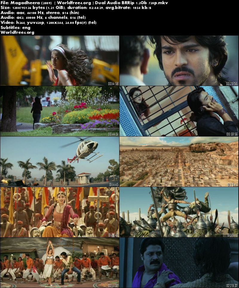 Magadheera 2009 BRRip 500Mb Download 480p Dual Audio