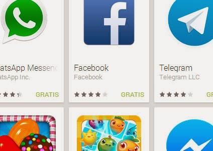 Aplicaciones Android más descargadas en marzo 2014