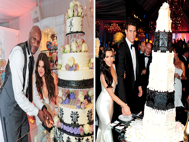 bolo de casamento kardashian