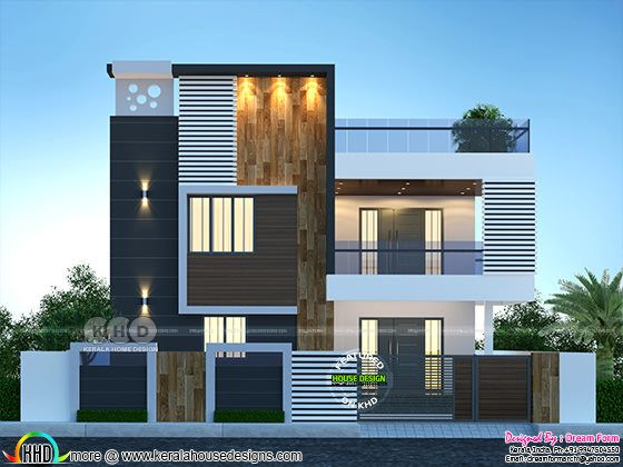 Beautifully rendered modern Kerala home