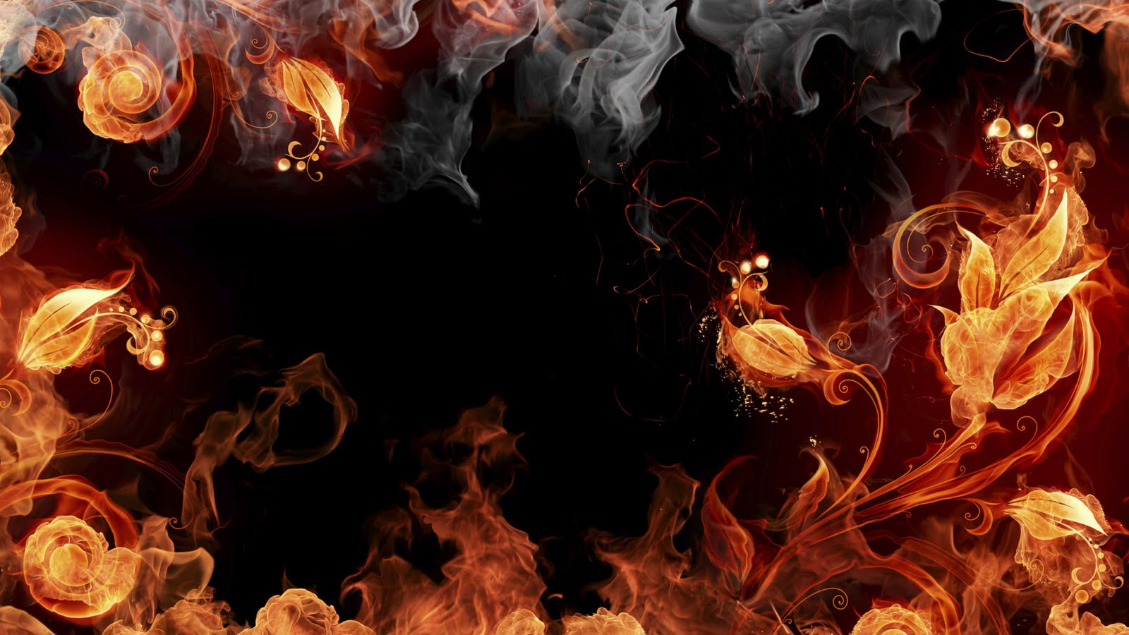 wallpapers box  elements of fire yellow red green blue hd