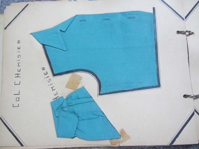 Exemples de couture de col