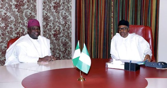 Lagos State Governor, Mr. Akinwunmi Ambode  pay a courtesy visit to  President Muhammadu Buhari in state HouseAbuja