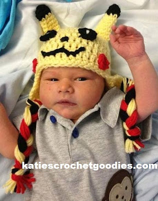 newborn pokemon crochet hat