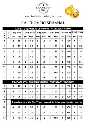 calendario para programa air alert