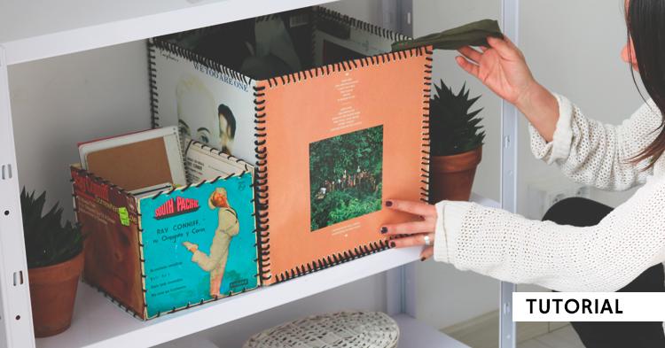 Cajas con portadas de discos