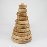 LotesToys Wooden Stacking Geometric  (PY04)