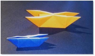 Cara Membuat Perahu Kembar dari Kertas