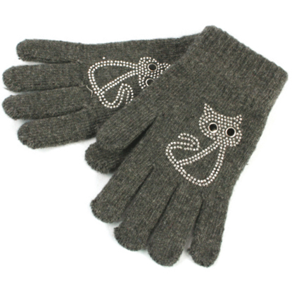 Sparkly cat gloves