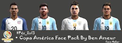 Copa America Centenario FacePack Pes 2013 By Ben Ameur