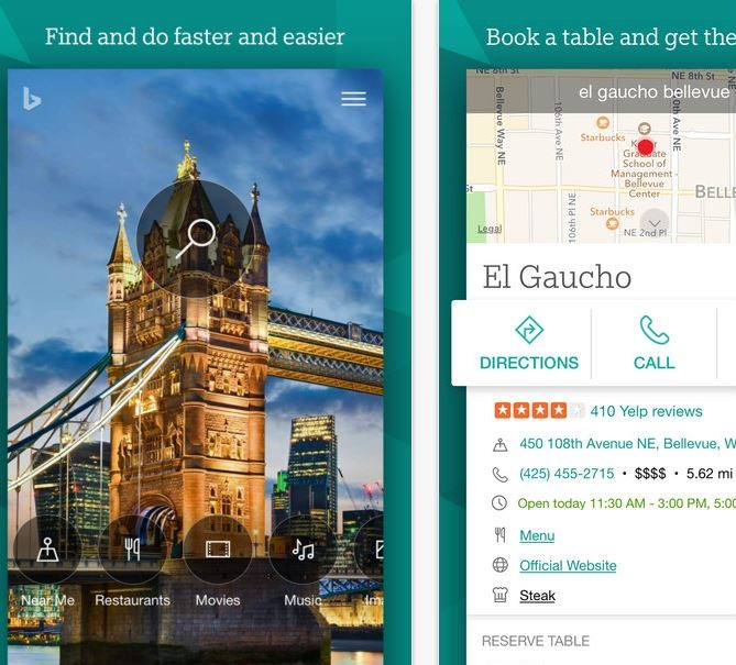 Bing on iOS updated : Brings new reading option with music page and more