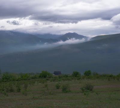 Вид на горы с подножия Демерджи
