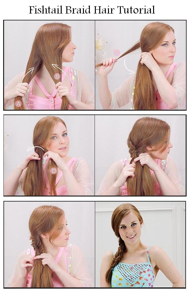 New Short Hair Styles Make Fishtail Braid For Your Hair