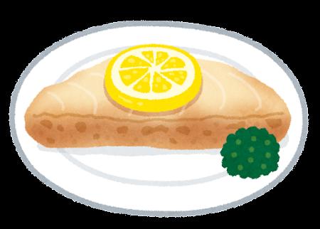 白身魚のムニエルのイラスト