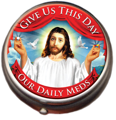 Jesus pill box - Give us this day our daily meds