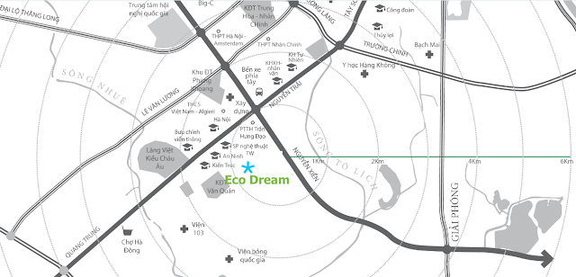 Vị trí chung cư Eco Dream City
