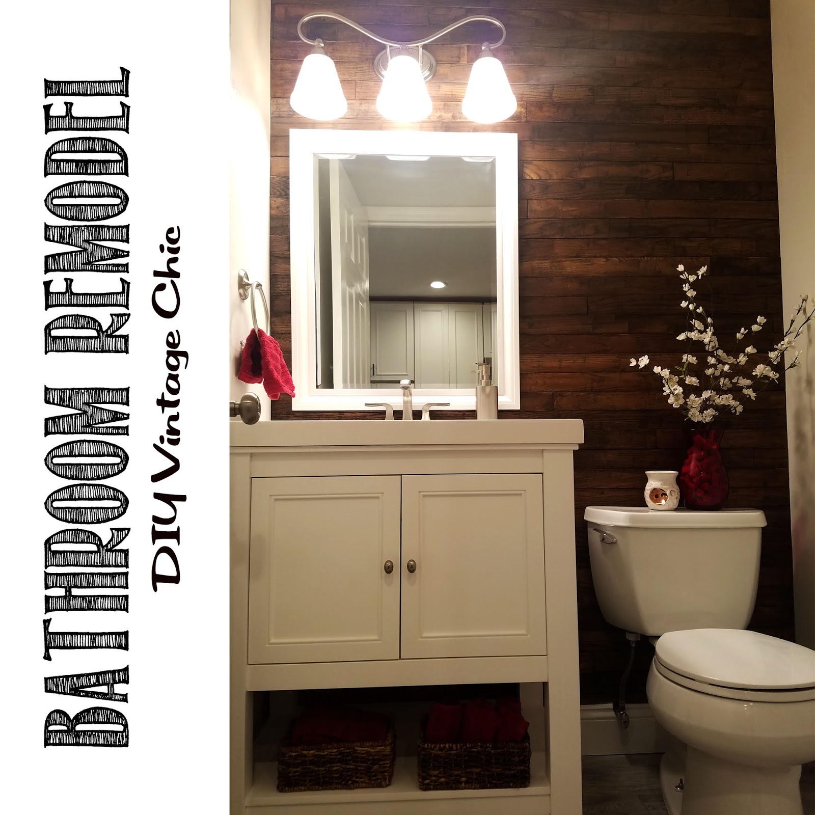 Vintage Bathroom Remodel Don ut forget to stop by and Like my Facebook Page and Follow me on Twitter