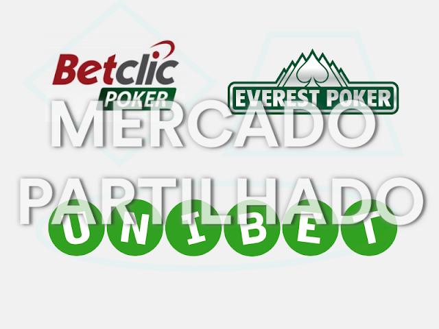 Betclic e Everest Poker com Unibet Poker no mercado partilhado