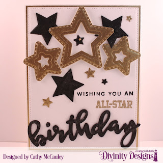 Stamp/Die Duos: Birthday  Stamp Set: All-Star Jersey  Custom Dies: Pierced Rectangles, Double Stitched Stars, Sparkling Stars