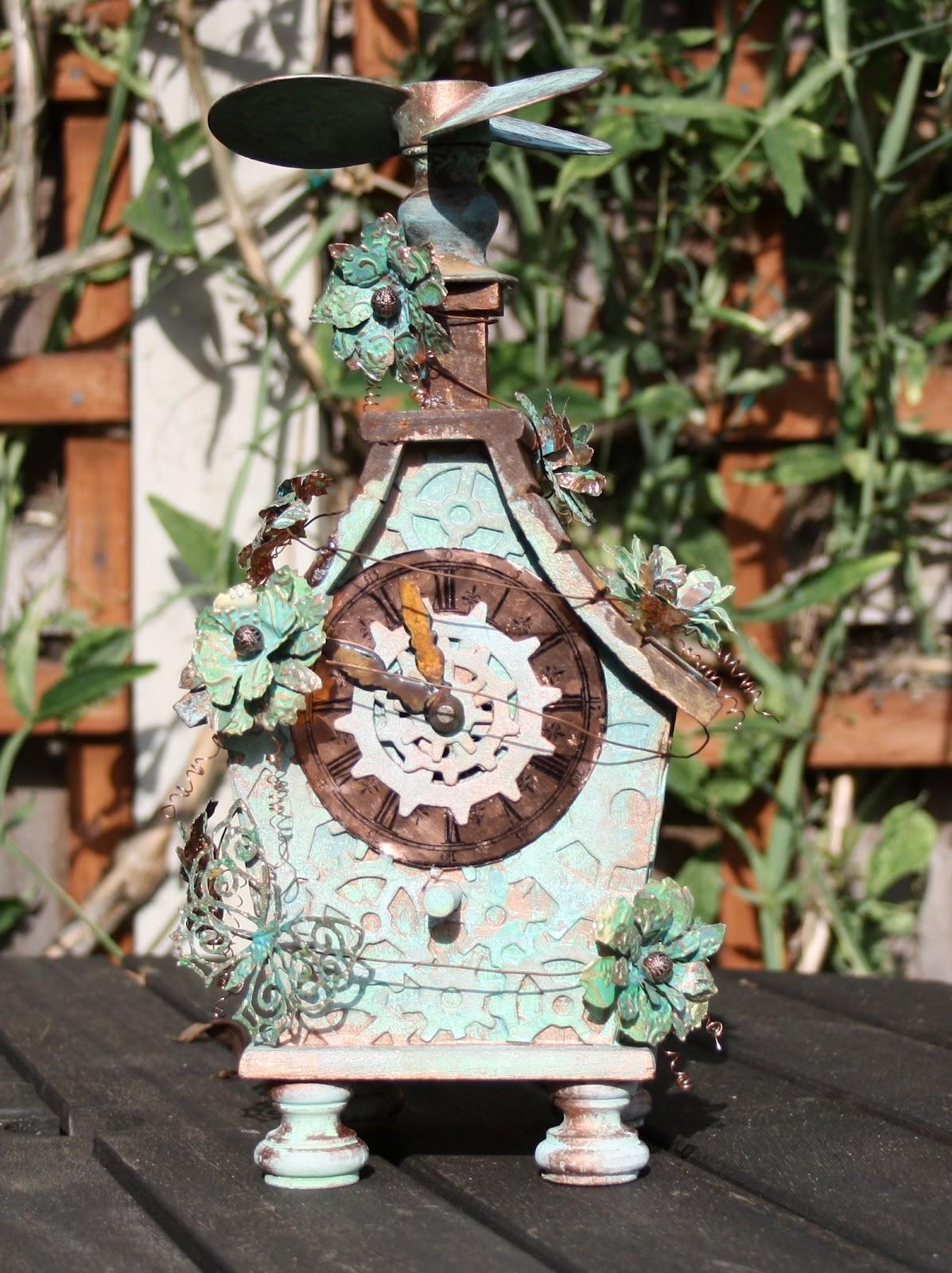 Carol Fox Welcome 2 My World Steampunk Birdhouse