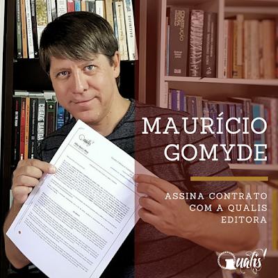 Maurício Gomyde assina contrato com Editora Qualis