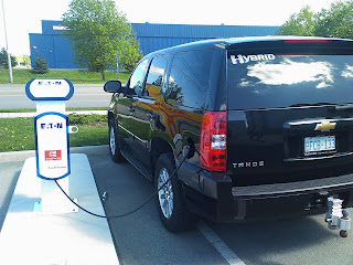 Plug In Hybrid Chevy Tahoe Charges Up Burlington On
