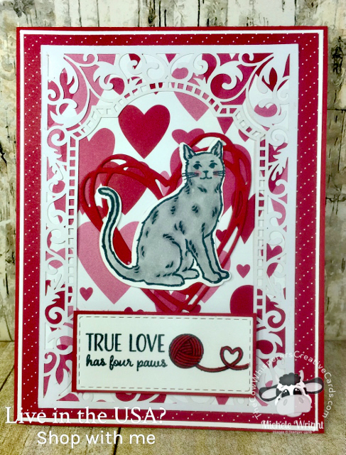 Card, Nine Lives, Beautifully Detailed Laser Paper, Valentine, Cat Punch