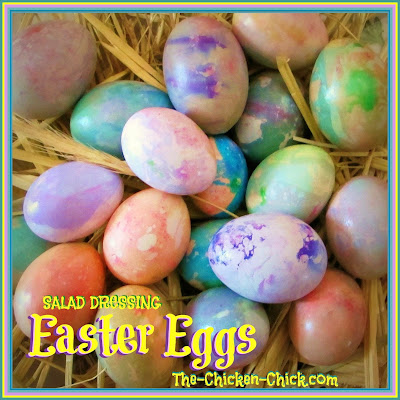 Easy Marbled Easter Eggs, shared by The Chicken Chick
