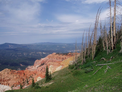 View from a scenic outlook of Cedar Breaks