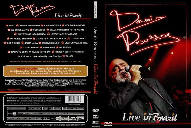Capa DVD Demis Roussos Live in Brazil (Oficial)