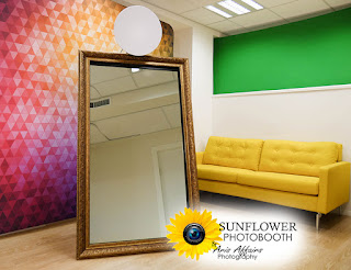 The Sunflower Photobooth by Aris Affairs Photography can turn your Prescott party into a fun photo event.