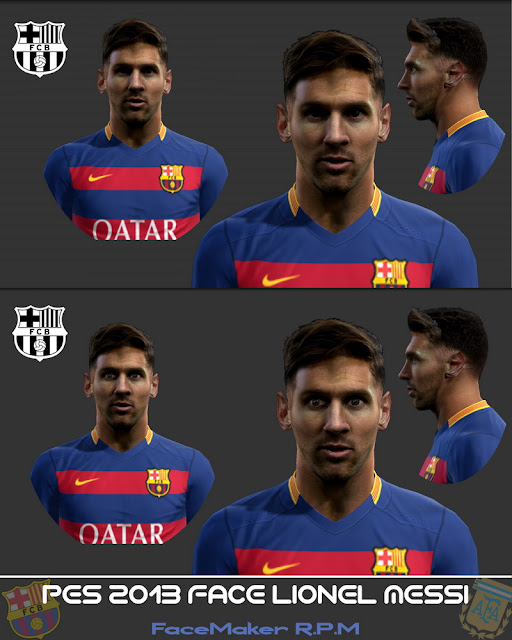 Pes 2013 Face Lionel Messi By R.P.M