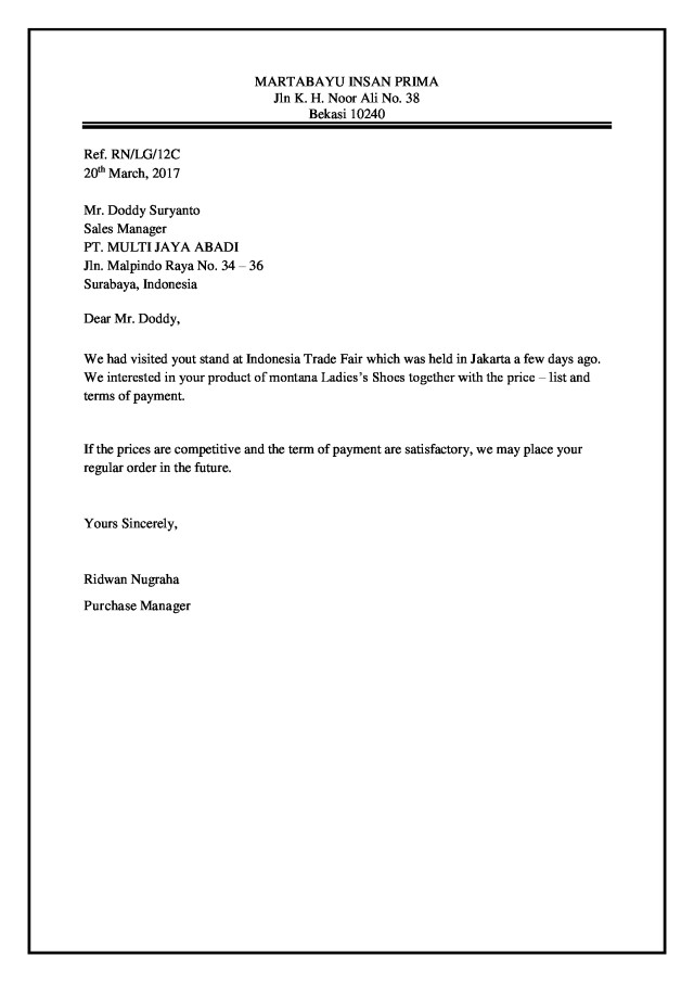 Mardafillah Thasa  Styles And Parts Of Business Letter