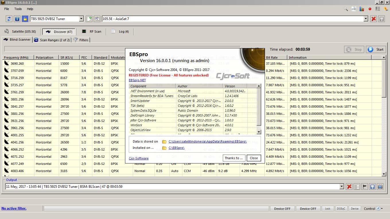 Software Blind Scan Parabola di Komputer Pada DVB Card