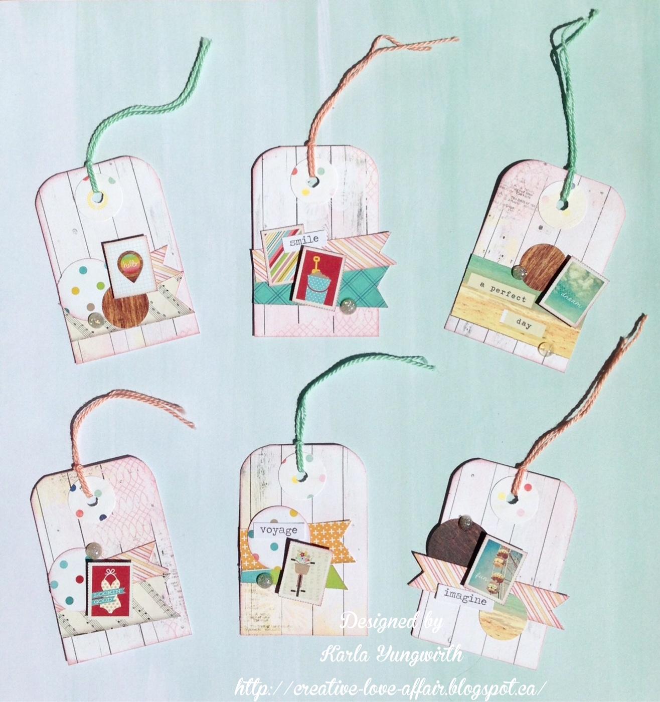 Karla Yungwirth Designs Diy Scrapbook Tag Embellishments
