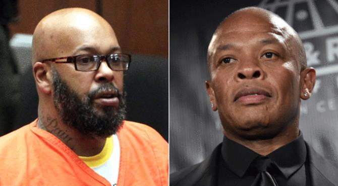 """Former rap mogul Marion """"Suge"""" Knight is suing Dr Dre, alleging that the hip-hop star and Apple executive hired hitmen to kill him.  Knight alleges Dre was responsible for two attempts on his life."""