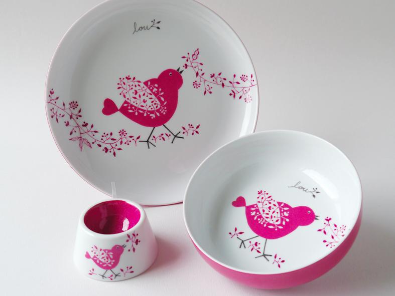 carolina leon firrell la vaisselle pour b b personnalis e. Black Bedroom Furniture Sets. Home Design Ideas