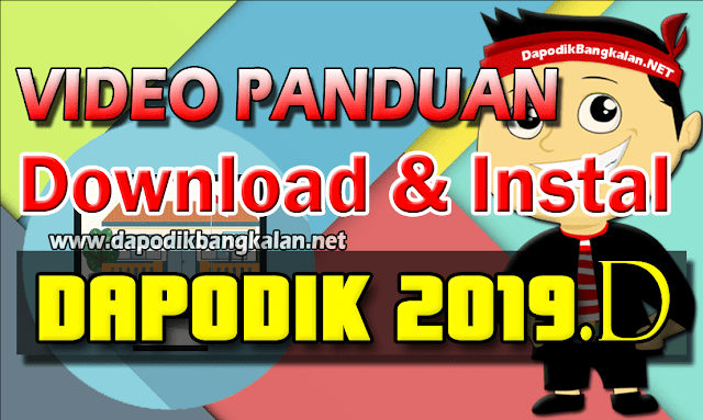 cara download dan instal Dapodik 2019 d