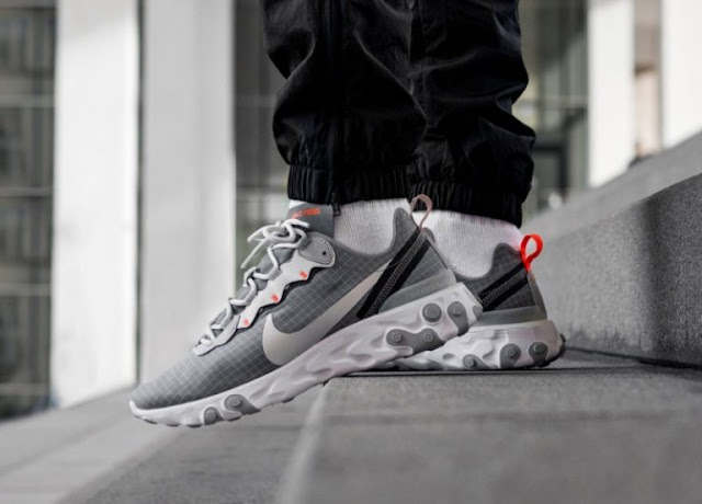 "Nike React Element 55 ""Grey/Orange"""