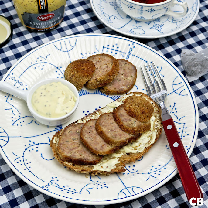 Recept Limburgse boterham met gehaktbal en mosterdmayonaise